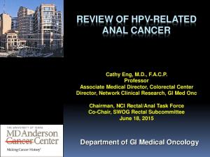 REVIEW OF HPV-RELATED ANAL CANCER