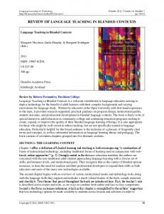 REVIEW OF LANGUAGE TEACHING IN BLENDED CONTEXTS