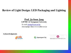 Review of Light Design: LED Packaging and Lighting