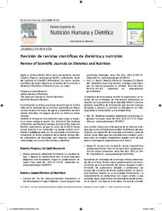 Review of Scientific Journals on Dietetics and Nutrition