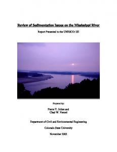 Review of Sedimentation Issues on the Mississippi River