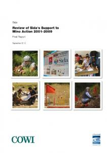Review of Sida's Support to Mine Action