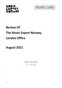 Review Of The Music Export Norway London Office