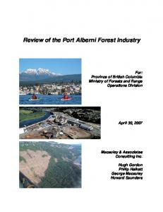 Review of the Port Alberni Forest Industry