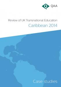 Review of UK Transnational Education. Caribbean Case studies