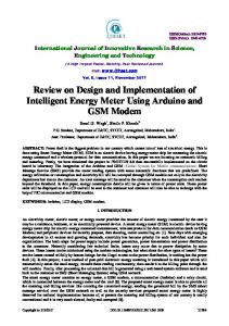 Review on Design and Implementation of Intelligent Energy Meter Using Arduino and GSM Modem