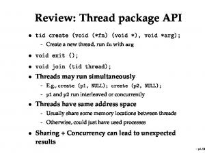 Review: Thread package API