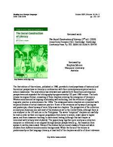 Reviewed work: Reviewed by Stephen Moore Macquarie University Australia