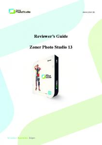 Reviewer s Guide. Zoner Photo Studio 13