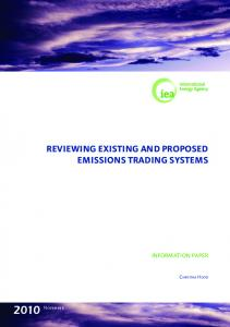 REVIEWING EXISTING AND PROPOSED EMISSIONS TRADING SYSTEMS