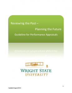 Reviewing the Past Planning the Future. Guideline for Performance Appraisals