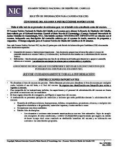 REVISE CUIDADOSAMENTE TODA LA INFORMACIÓN!