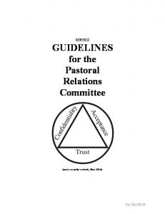 REVISED GUIDELINES for the Pastoral Relations Committee