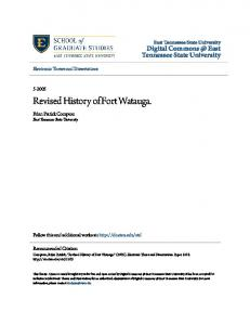 Revised History of Fort Watauga