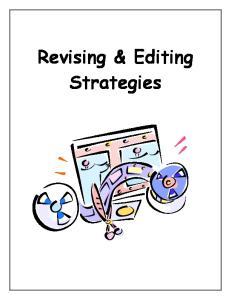 Revising & Editing Strategies