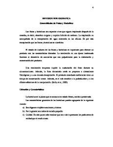 REVISION BIBLIOGRAFICA. Generalidades de Frutas y Hortalizas