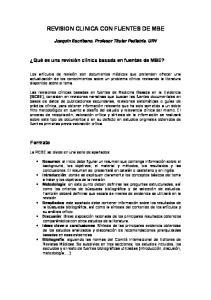 REVISION CLINICA CON FUENTES DE MBE