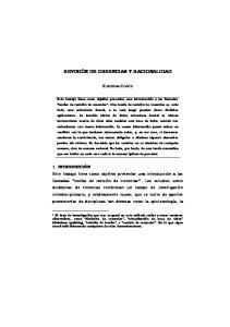 REVISIÓN DE CREENCIAS Y RACIONALIDAD