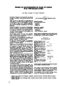REVISION DE LOS ANTAGONISTAS DEL CALCIO EN FUNCION DE SU FARMACOLOGIA CLINICA