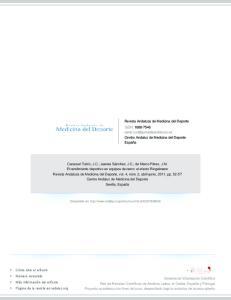 Revista Andaluza de Medicina del Deporte ISSN: Centro Andaluz de Medicina del Deporte España