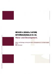 REVISTA CIDOB d AFERS INTERNACIONALS Water and Development