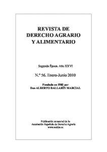 REVISTA DE DERECHO AGRARIO Y ALIMENTARIO