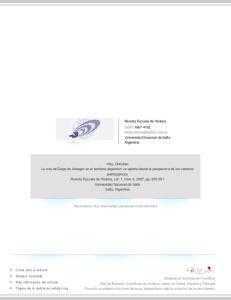 Revista Escuela de Historia ISSN: Universidad Nacional de Salta Argentina
