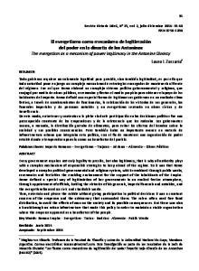 Revista Historia UdeC, N 21, vol. 2, julio-diciembre 2014: ISSN RESUMEN