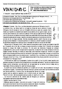 Revista informativa para los residentes extranjeros que viven en Himeji.  Mayo de 2004 No. 9