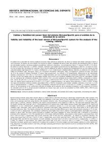 REVISTA INTERNACIONAL DE CIENCIAS DEL DEPORTE