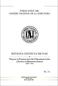 REVISTA JUSTICIA DE PAZ