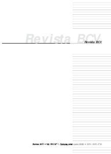Revista Revista BCV. Revista BCV Vol. XVI. N 1. Caracas, enero-junio 2002 ISSN: