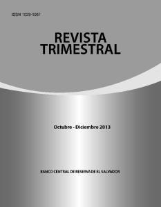 REVISTA TRIMESTRAL. Octubre - Diciembre2013