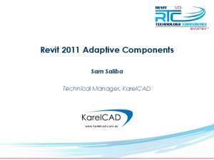 Revit 2011 Adaptive Components