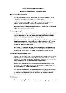 Revive Dental Care Information Sheet