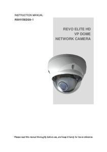 REVO ELITE HD VP DOME NETWORK CAMERA