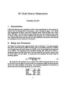 RF Diode Detector Measurement