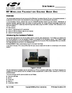RF WIRELESS FOUNDATION COURSE BOOK ONE