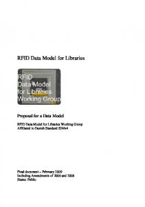 RFID Data Model for Libraries