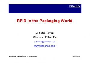 RFID in the Packaging World