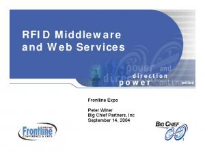 RFID Middleware and Web Services