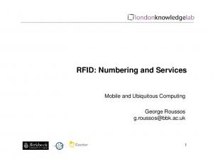 RFID: Numbering and Services