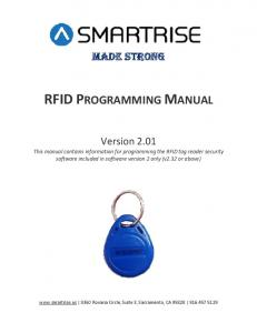 RFID PROGRAMMING MANUAL