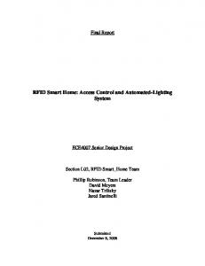 RFID Smart Home: Access Control and Automated-Lighting System