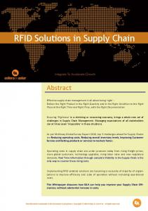 RFID Solutions in Supply Chain