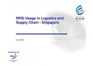 RFID Usage in Logistics and Supply Chain - Singapore