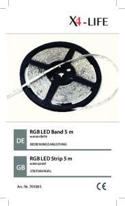RGB LED Band 5 m RGB LED Strip 5 m