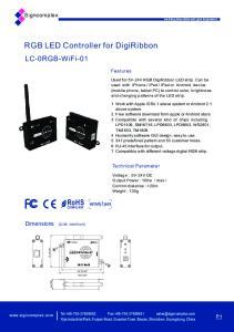 RGB LED Controller for DigiRibbon