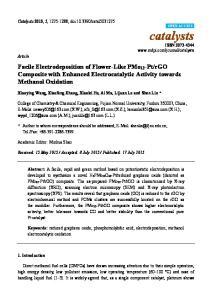 rGO Composite with Enhanced Electrocatalytic Activity towards Methanol Oxidation