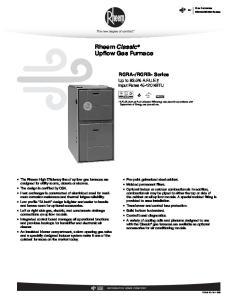 Rheem Classic Upflow Gas Furnace